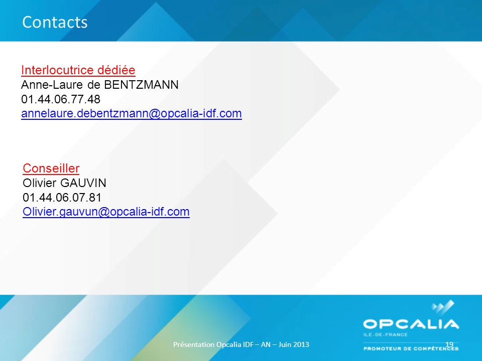 Présentation Opcalia IDF – AN – Juin 2013