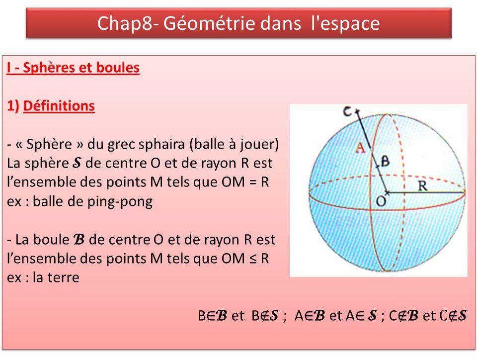 Chap8- Géométrie dans l espace