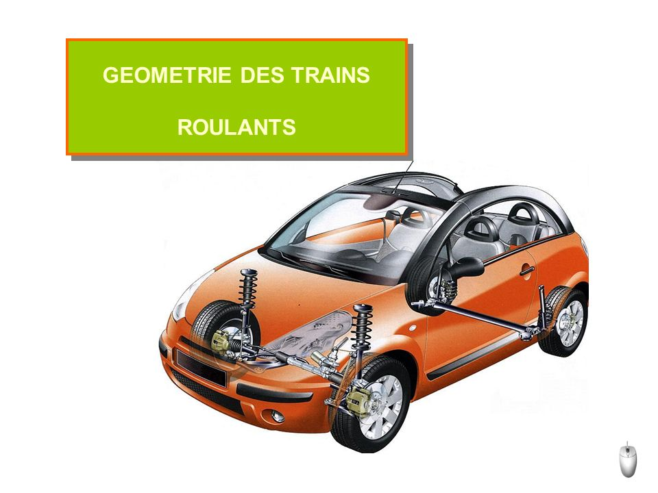 GEOMETRIE DES TRAINS ROULANTS