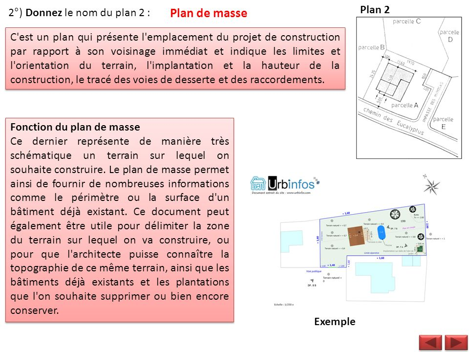 Lecture de plans du b timent td1 ppt video online - Un plan en coupe du terrain et de la construction ...