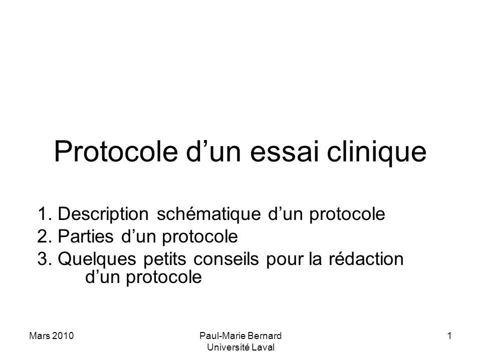 Protocole d'un essai clinique