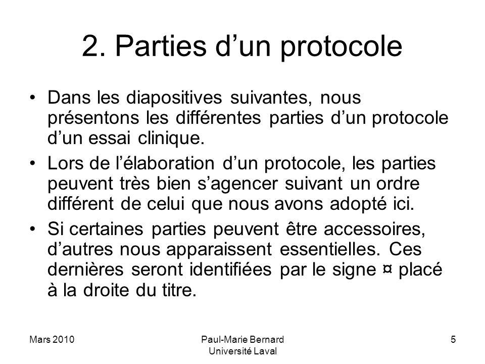2. Parties d'un protocole