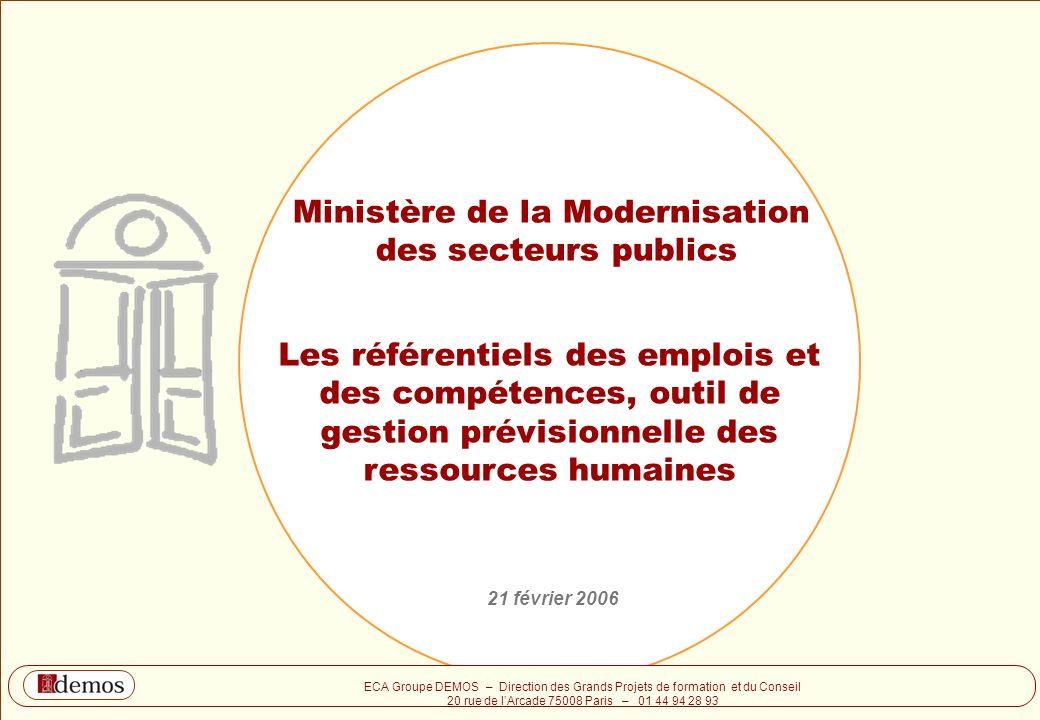 Ministère de la Modernisation des secteurs publics