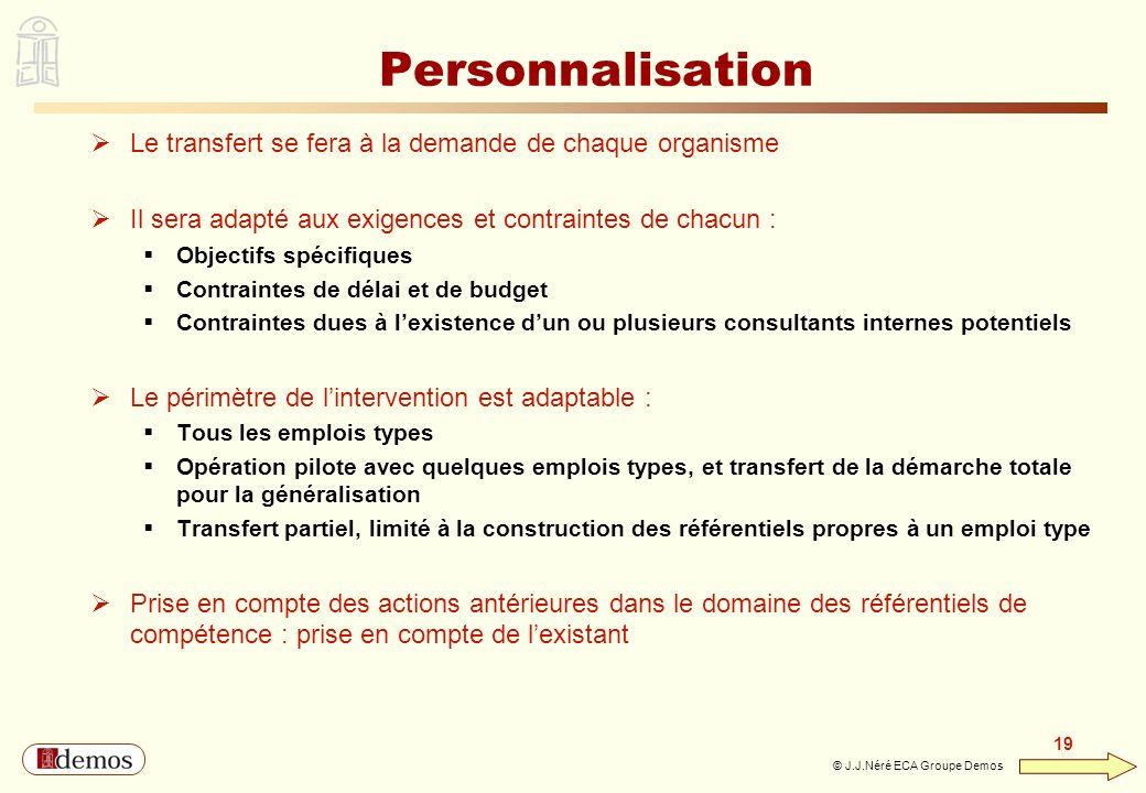 Personnalisation Le transfert se fera à la demande de chaque organisme