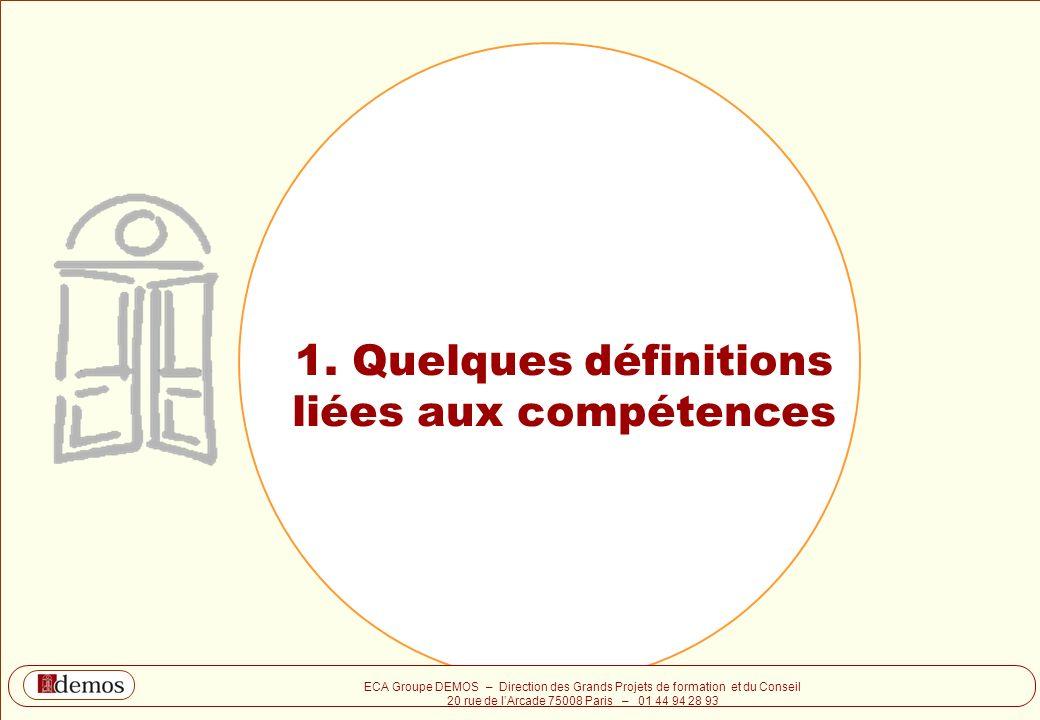 1. Quelques définitions liées aux compétences