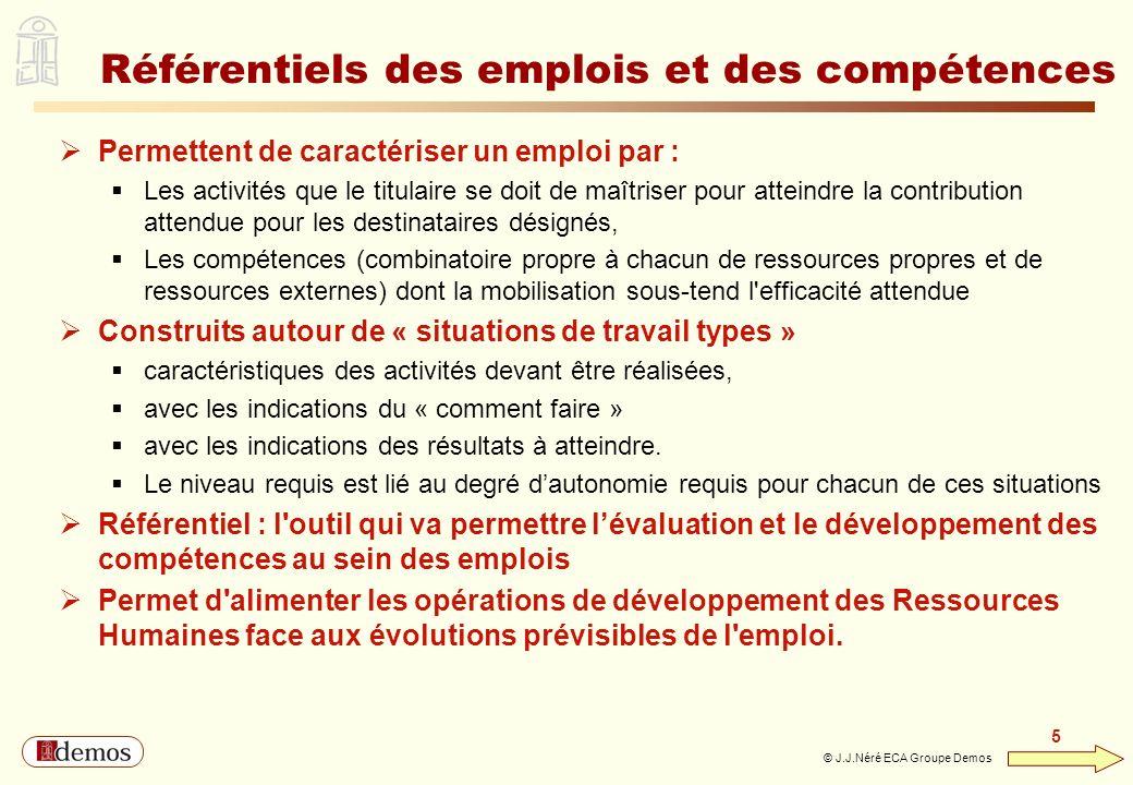 Référentiels des emplois et des compétences