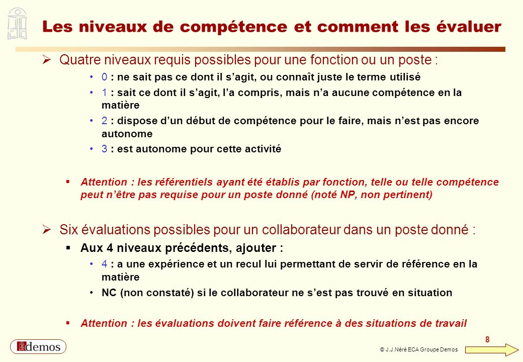Les niveaux de compétence et comment les évaluer