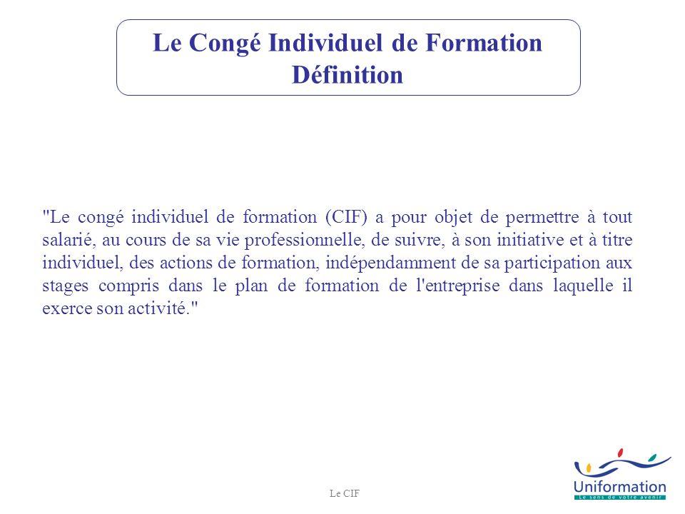 Le Congé Individuel de Formation Définition