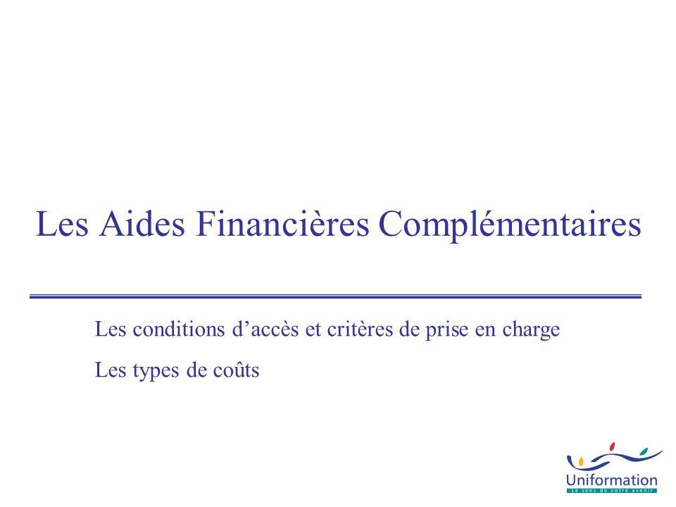 Les Aides Financières Complémentaires