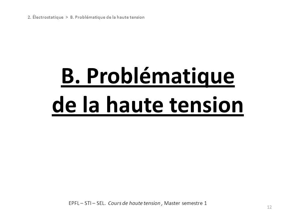 B. Problématique de la haute tension
