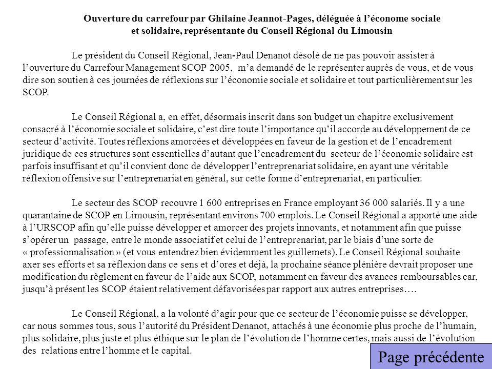 et solidaire, représentante du Conseil Régional du Limousin