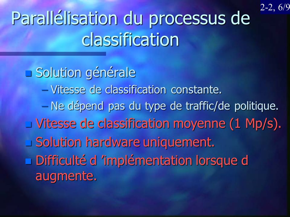 Parallélisation du processus de classification