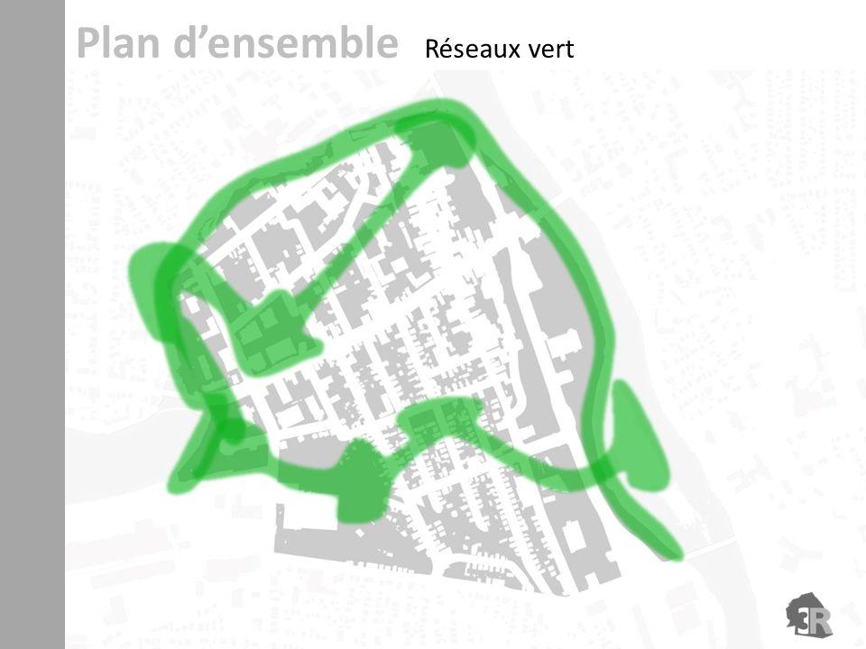 Plan d'ensemble Réseaux vert