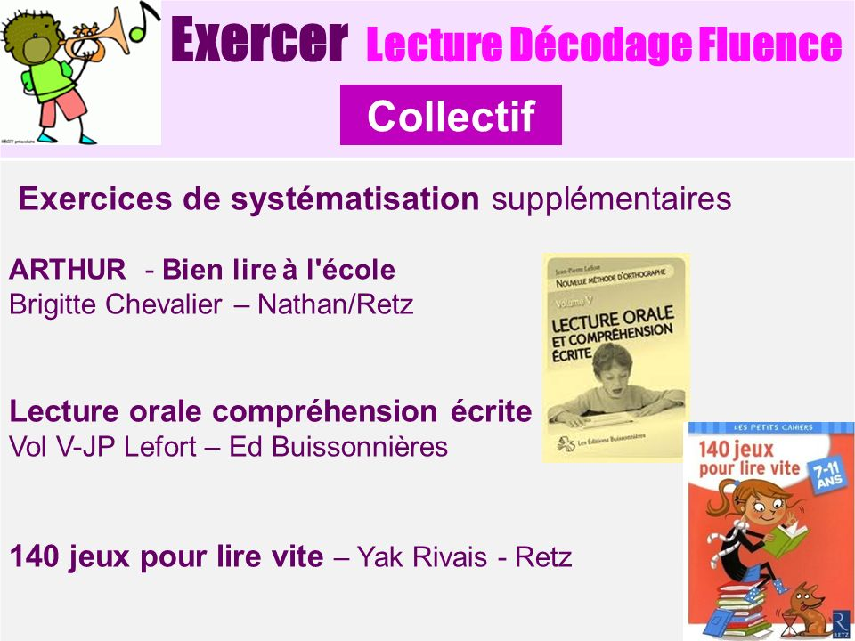 Collectif Exercer Lecture Décodage Fluence