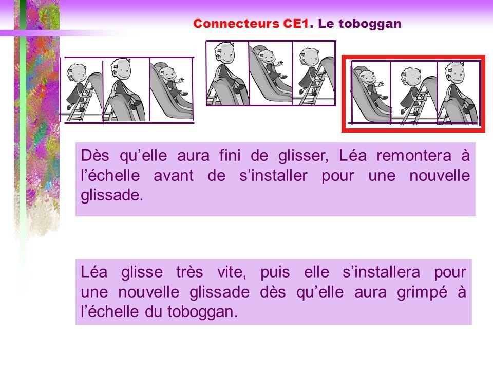 Connecteurs CE1. Le toboggan