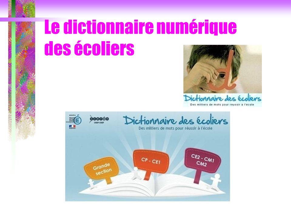 Le dictionnaire numérique des écoliers