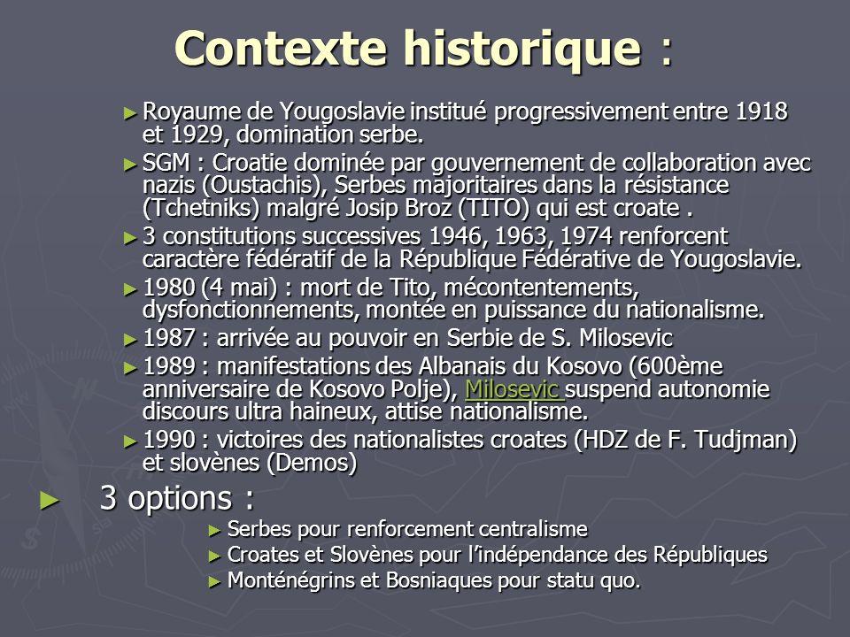 Contexte historique : 3 options :