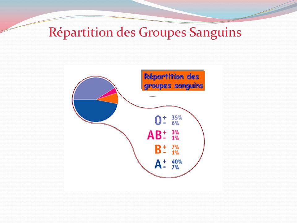 Répartition des Groupes Sanguins