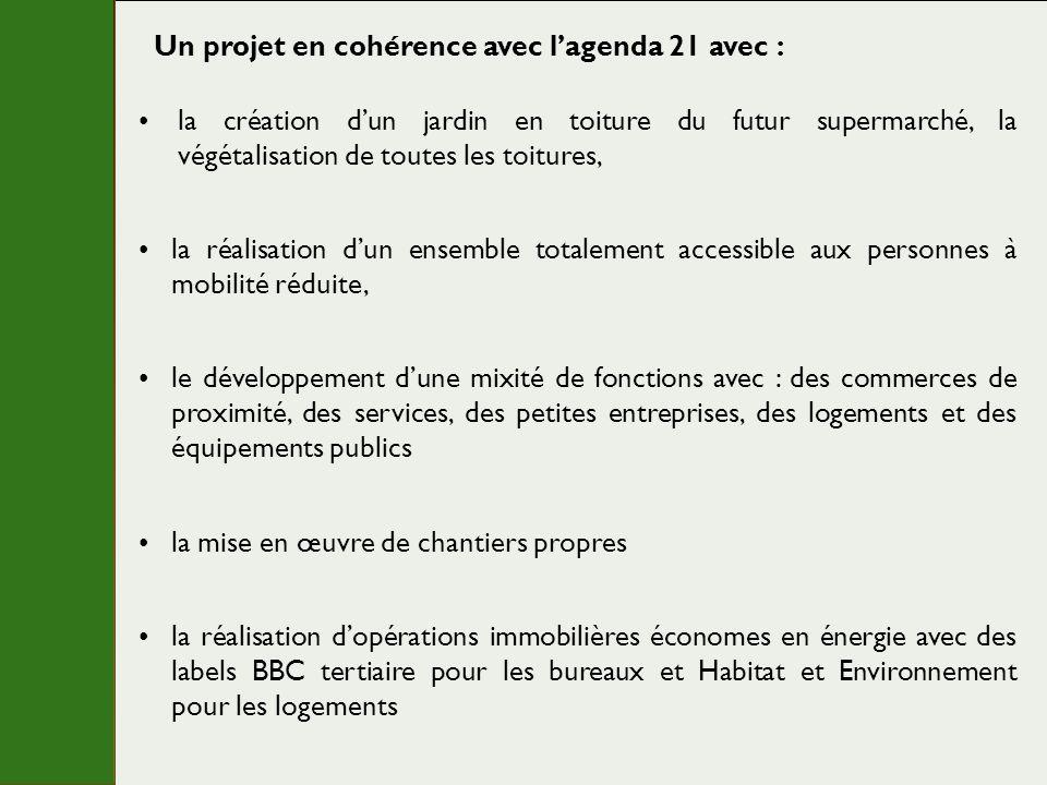 Un projet en cohérence avec l'agenda 21 avec :