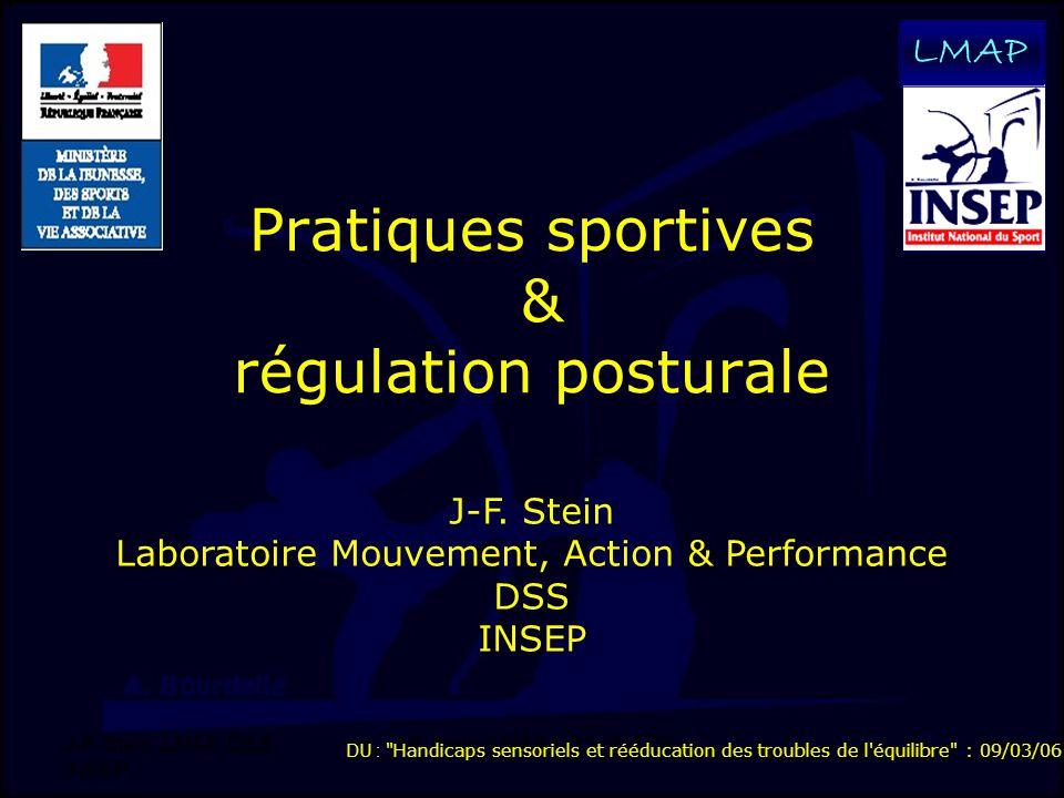 Pratiques sportives & régulation posturale