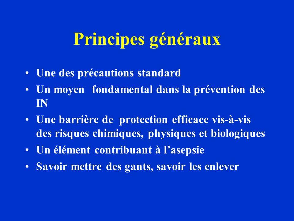 Principes généraux Une des précautions standard