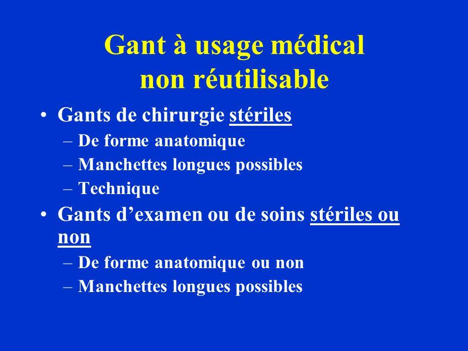 Gant à usage médical non réutilisable