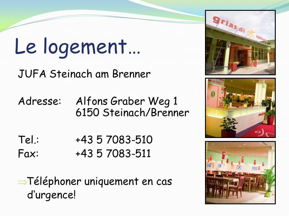Le logement… JUFA Steinach am Brenner