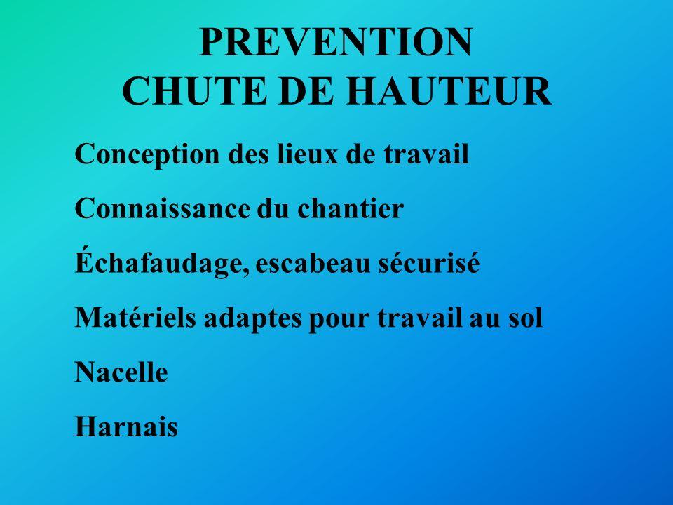 PREVENTION CHUTE DE HAUTEUR