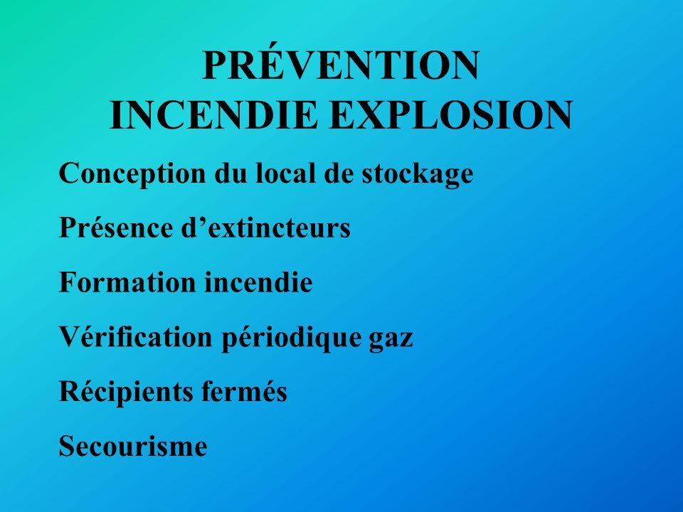 PRÉVENTION INCENDIE EXPLOSION