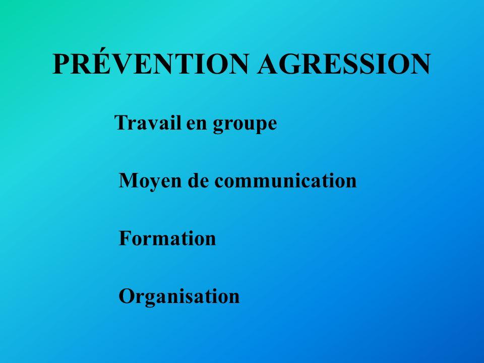 PRÉVENTION AGRESSION Travail en groupe Moyen de communication
