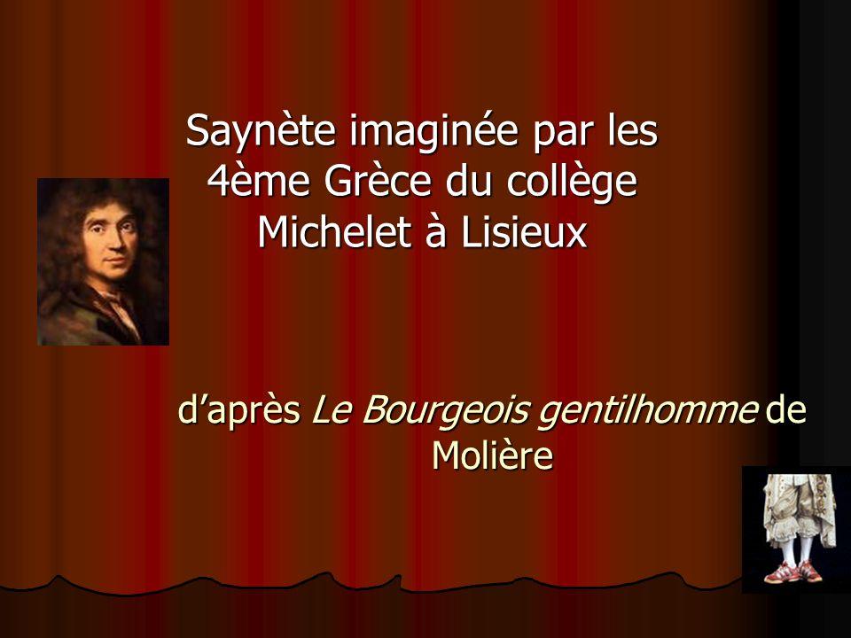 d'après Le Bourgeois gentilhomme de Molière