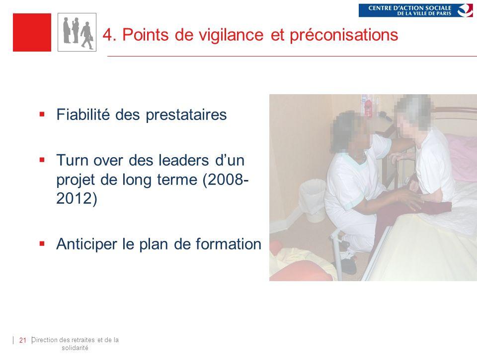 4. Points de vigilance et préconisations