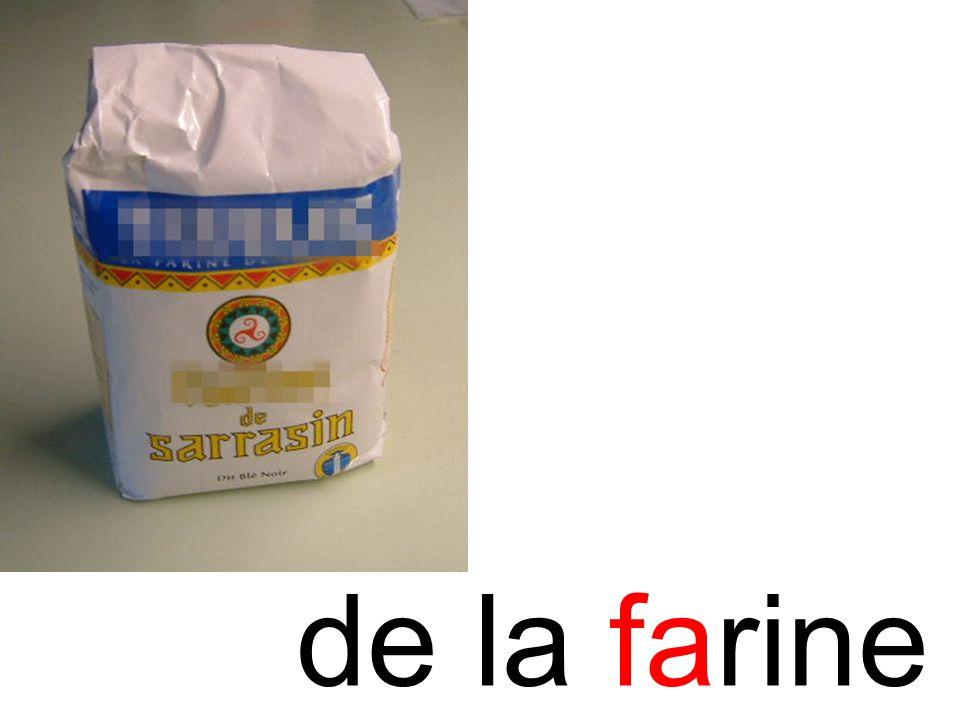 farine de la farine