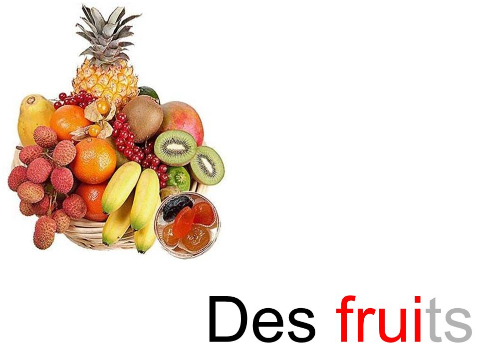 fruit Des fruits