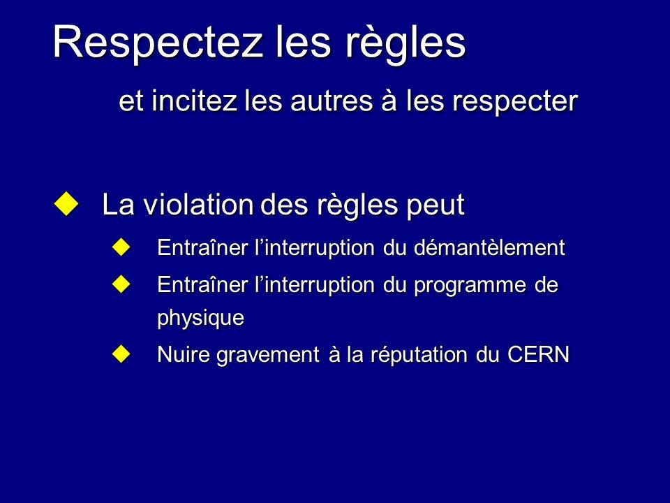 Respectez les règles et incitez les autres à les respecter