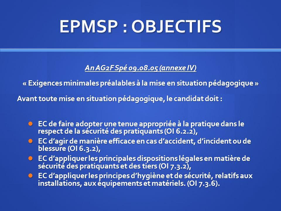 « Exigences minimales préalables à la mise en situation pédagogique »