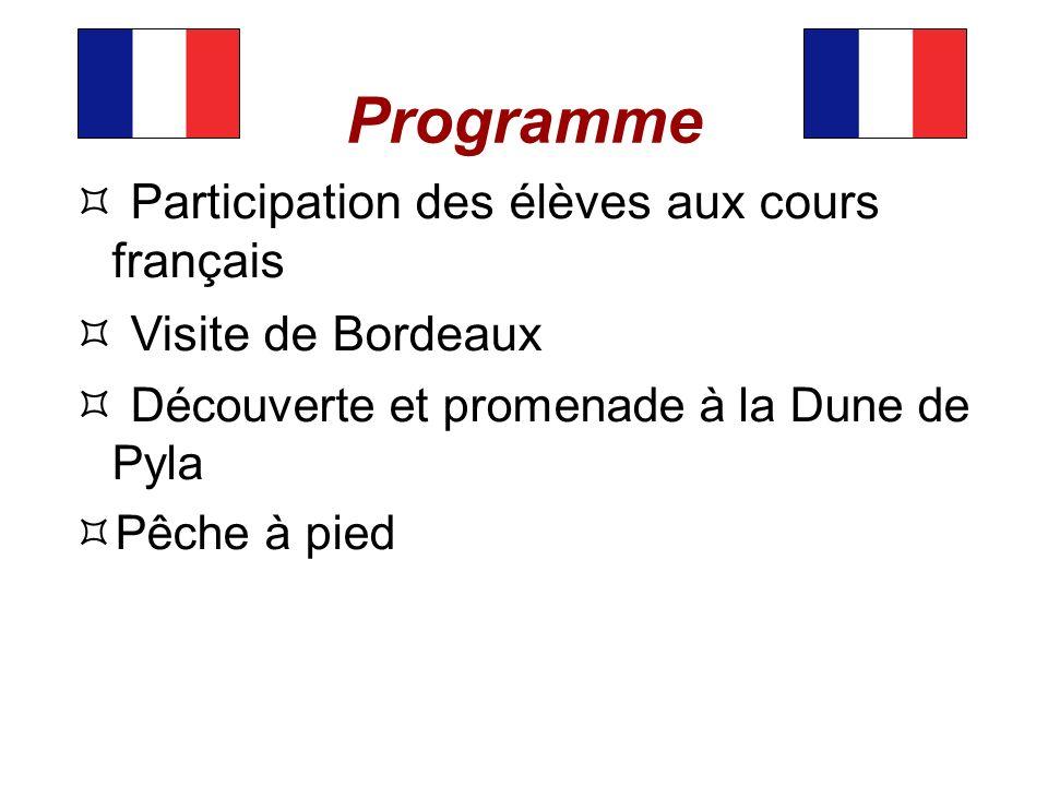 Programme Participation des élèves aux cours français