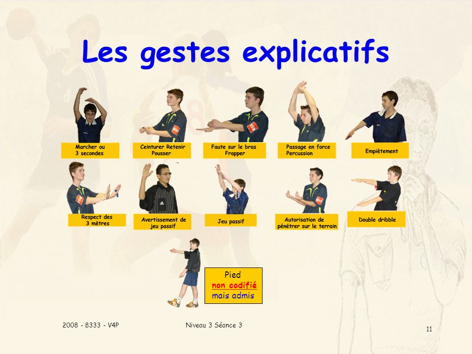 Les gestes explicatifs