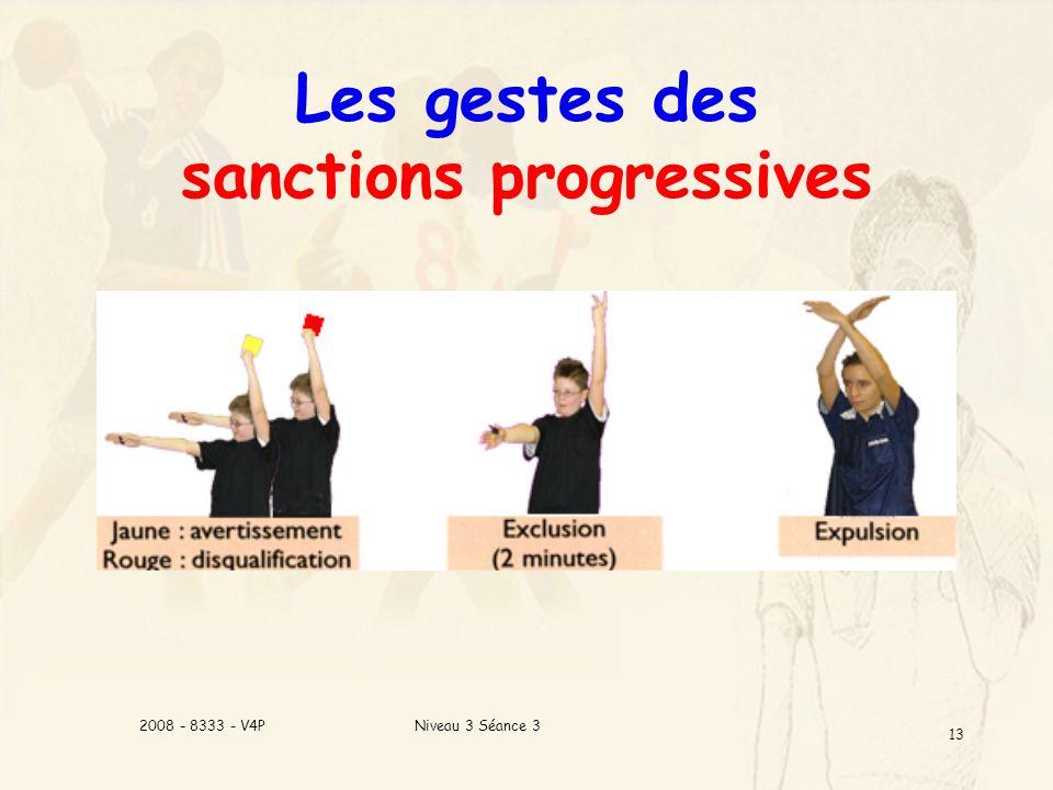 Les gestes des sanctions progressives