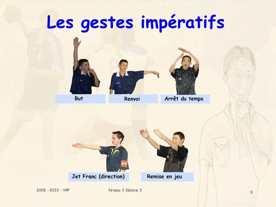 Les gestes impératifs 2008 - 8333 - V4P Niveau 3 Séance 3