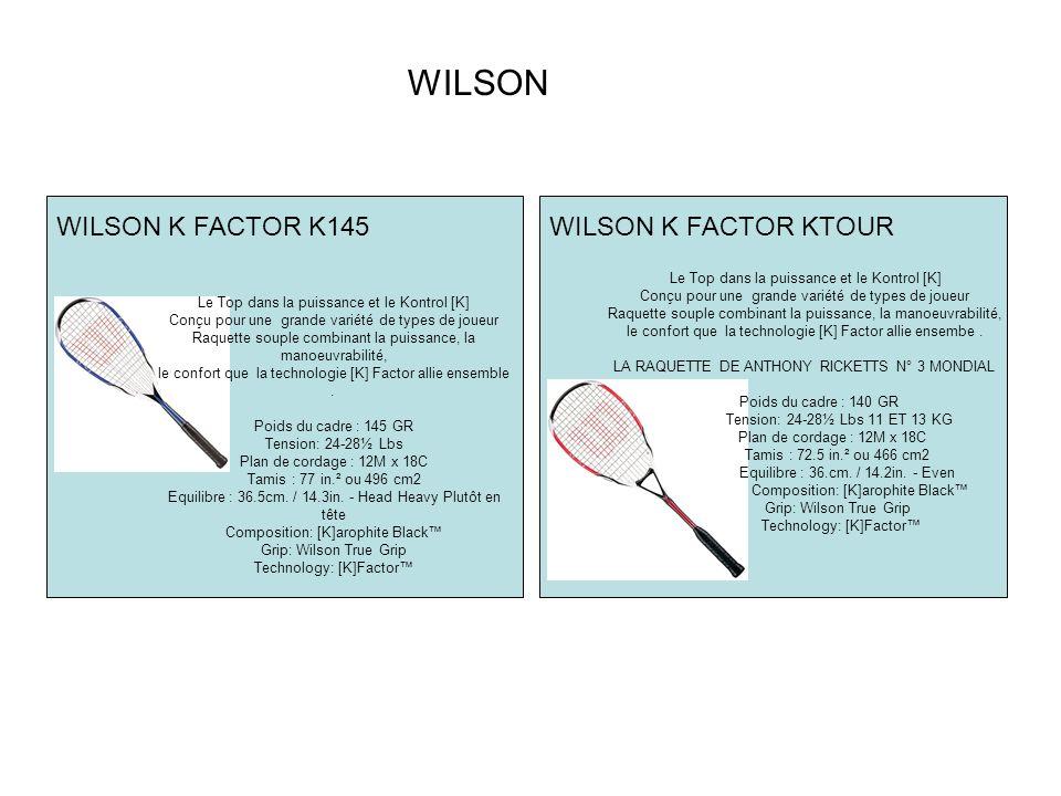 WILSON WILSON K FACTOR K145 WILSON K FACTOR KTOUR