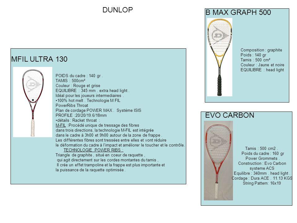 DUNLOP B MAX GRAPH 500 MFIL ULTRA 130 EVO CARBON