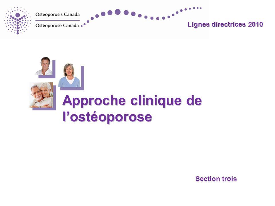 Approche clinique de l'ostéoporose