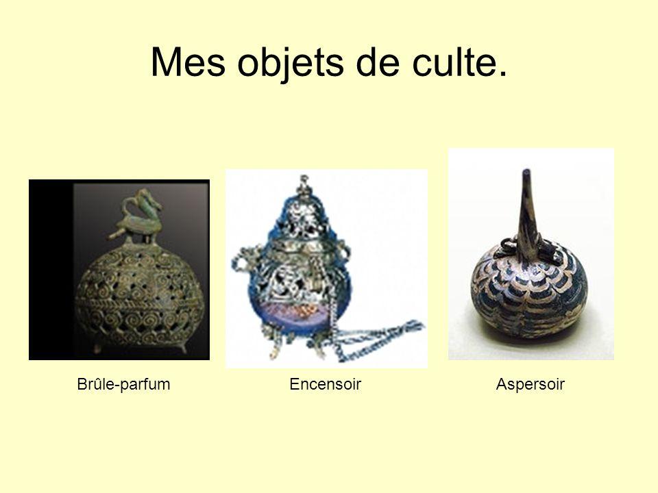 Mes objets de culte. Brûle-parfum Encensoir Aspersoir