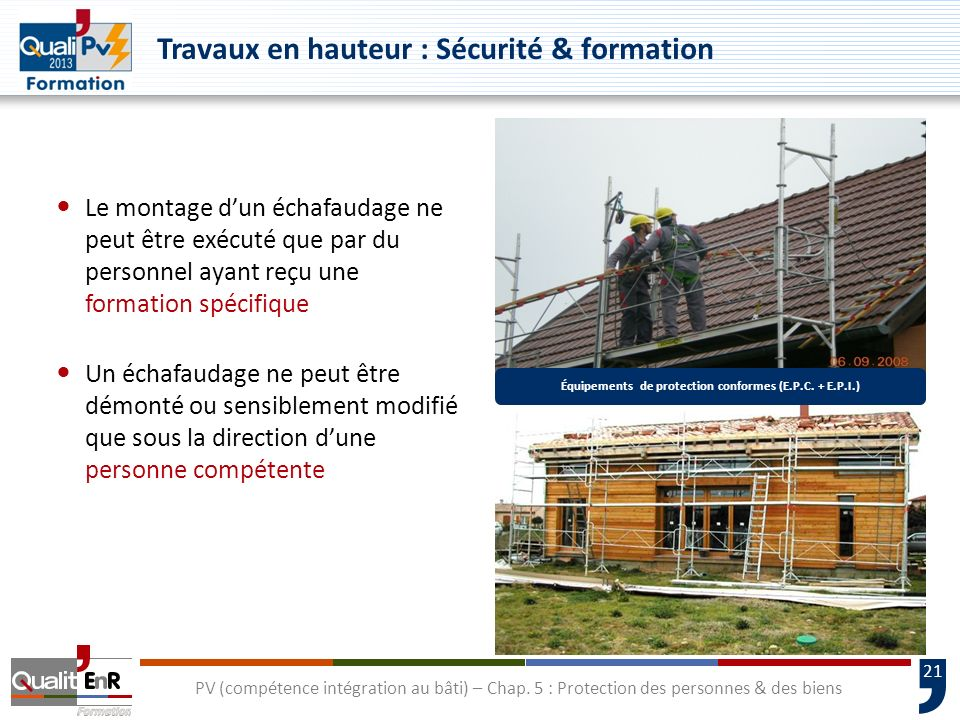 Équipements de protection conformes (E.P.C. + E.P.I.)