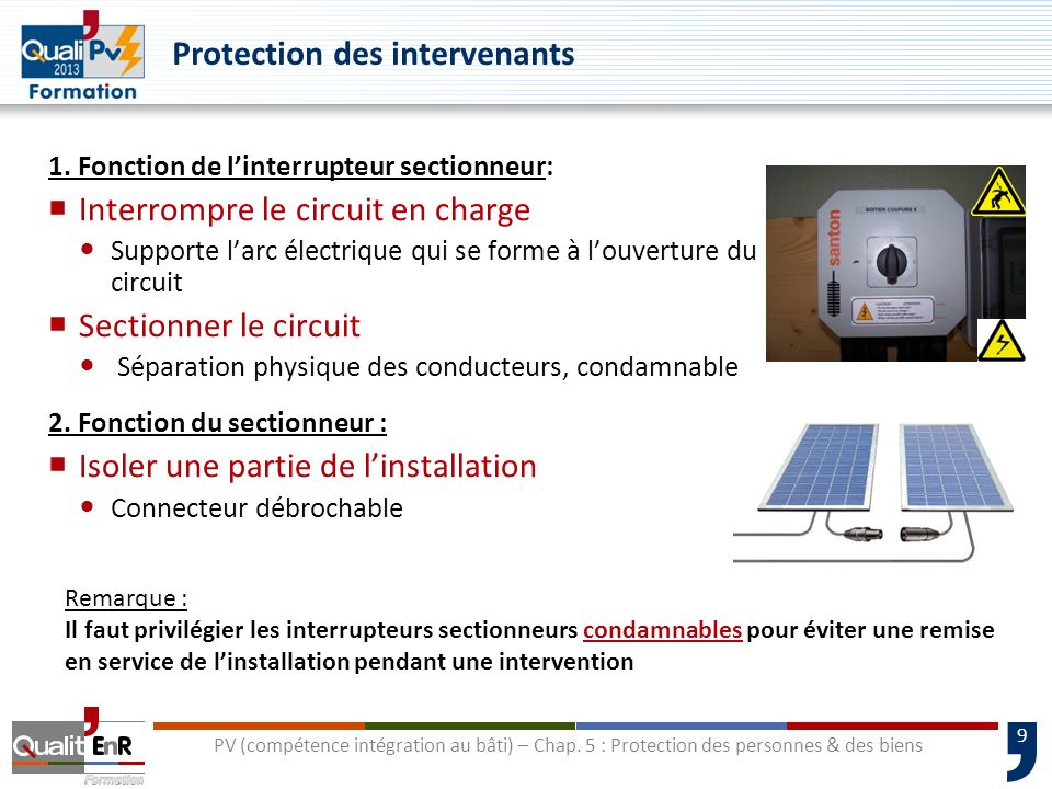 Protection des intervenants