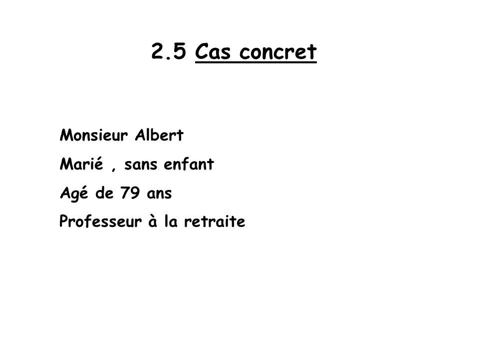 2.5 Cas concret Monsieur Albert Marié , sans enfant Agé de 79 ans