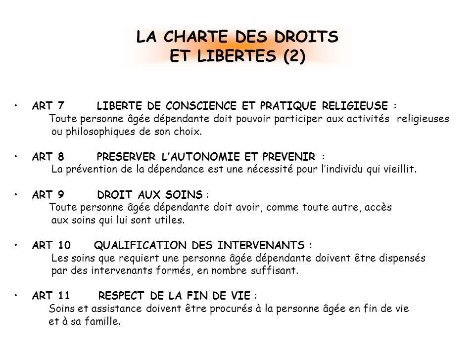 LA CHARTE DES DROITS ET LIBERTES (2)