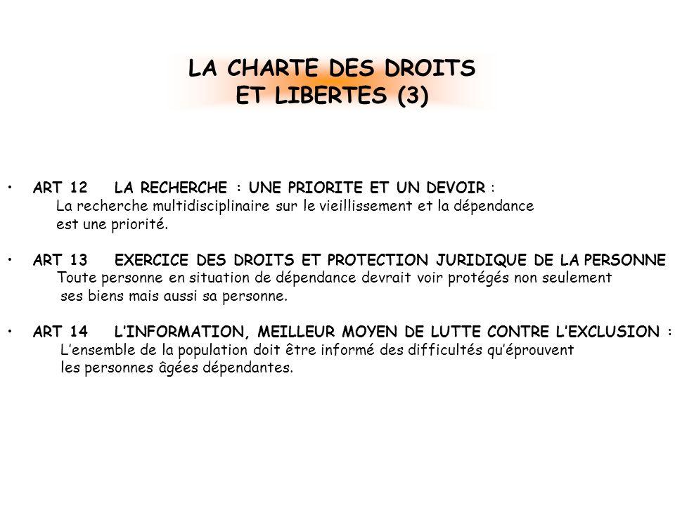 LA CHARTE DES DROITS ET LIBERTES (3)
