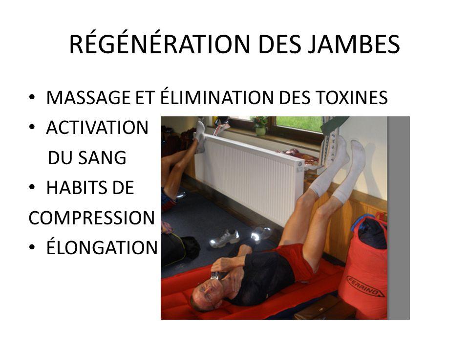 RÉGÉNÉRATION DES JAMBES